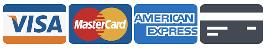 Mastercard, Visa, and American Express Logo